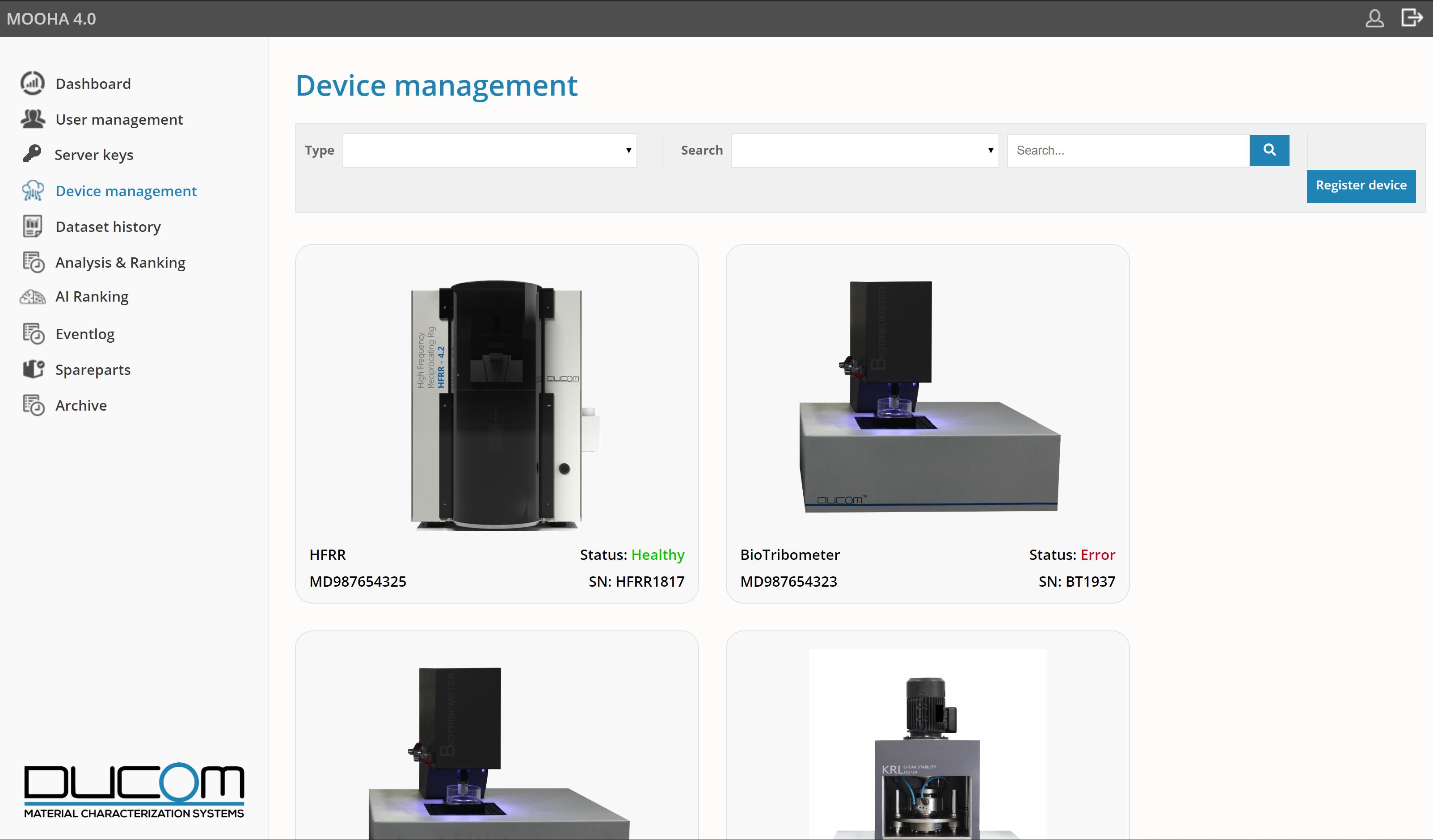 MOOHA - Device Management